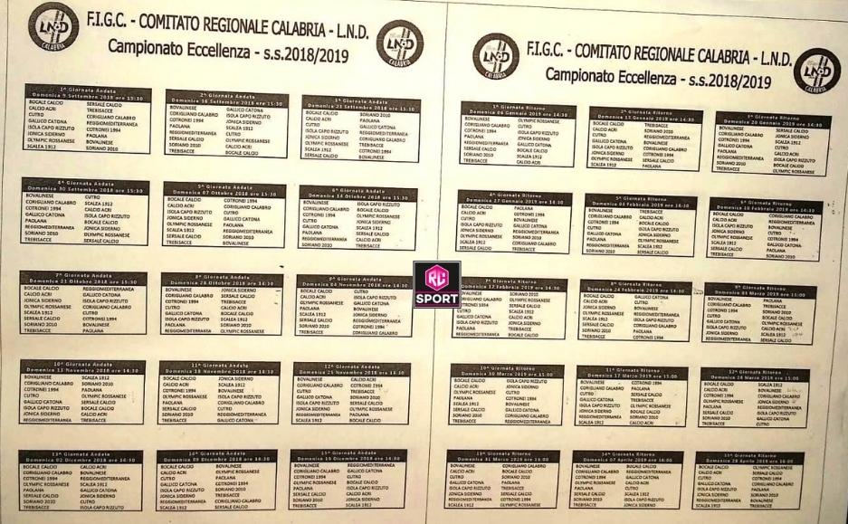 Calendario Eccellenza.Ecco Il Calendario Completo Del Campionato Di Eccellenza